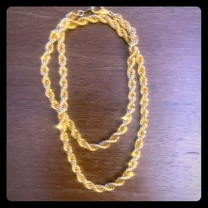 THICK Gold Rope Necklace